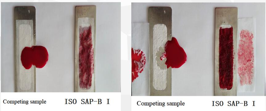 super absorbent polymer for absorbing blood more actively